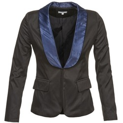 Clothing Women Jackets / Blazers Betty London BERTHILLE Black / Marine