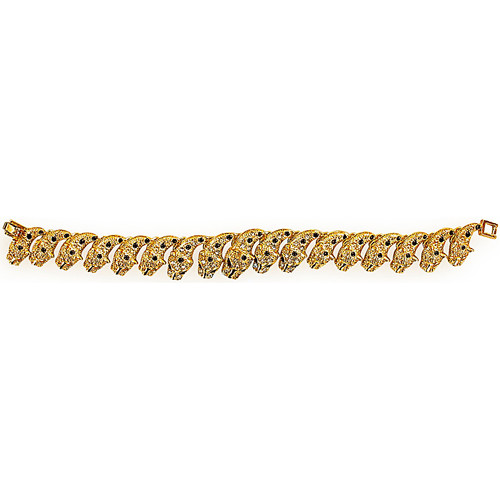 Watches Bracelets Fashionvictime Bracelet For Women By  - 18Ct Gold Plated Jewel- Zirconia Transparent,
