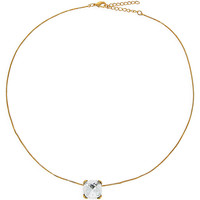 Watches Women Necklaces Fashionvictime Necklace For Women By  - Gold And Rhodium Plated Jewel- Crystals Transparent,