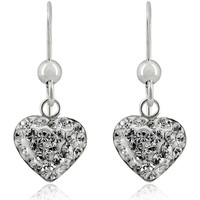 Watches Women Earrings Fashionvictime Earrings Heart For Women By  - Silver 925 Jewel- Crystal Transparent,