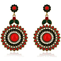 Watches Women Earrings Fashionvictime Earrings For Women By - Base Metal Jewel- Crystal Rouge