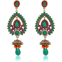 Watches Women Earrings Fashionvictime Earrings Ethnic For Women By  - Base Metal Jewel- Crystal Multicolore,