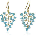 Watches Women Earrings Fashionvictime Earrings For Women By  - Base Metal Jewel- Crystal Bleu