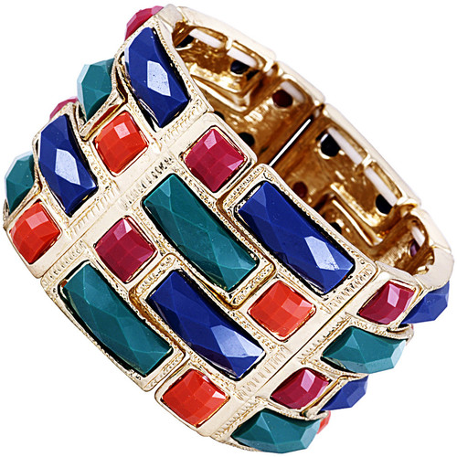 Watches Women Bracelets Fashionvictime Bracelet Cuff For Women By  - 9Ct Gold Plated Silver Jewel Multicolore,