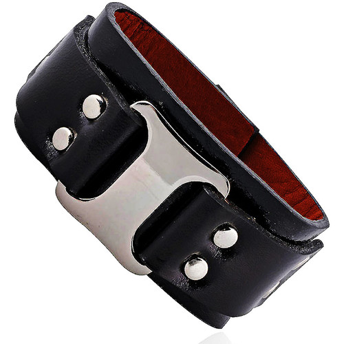 Watches Bracelets Fashionvictime Bracelet Cuff For Women By  - Rhodium Plated Jewel Noir