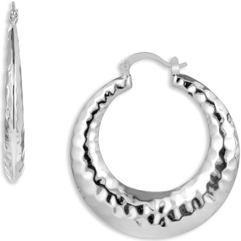Watches Women Earrings Fashionvictime Earrings Hoops For Women By  - Silver-Plated-Rhodium Jewel Argenté