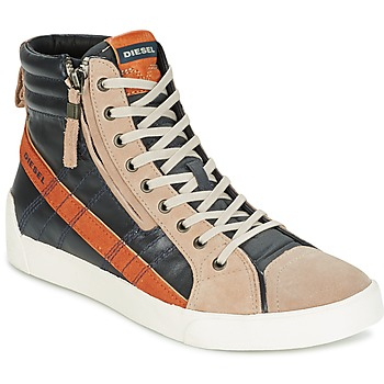 Shoes Men Hi top trainers Diesel D-STRING PLUS Anthracite / Camel