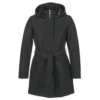 Clothing Women Parkas Geox PARKI Black