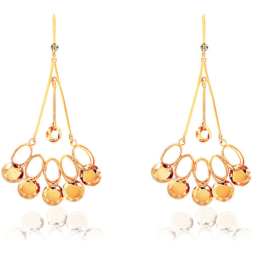 Watches Earrings Fashionvictime Earrings For Women By  - 9Ct Gold Plated Silver Jewel- Crystal Doré,