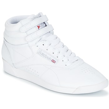 Shoes Women Hi top trainers Reebok Classic FREESTYLE White / Silver