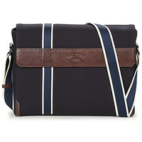 Bags Men Messenger bags Le Tanneur TOM Blue / Brown