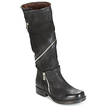 Shoes Women High boots Airstep / A.S.98 SAINT EC ZIP Black