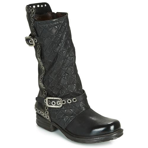 Shoes Women High boots Airstep / A.S.98 SAINT EC BUCKLE Black