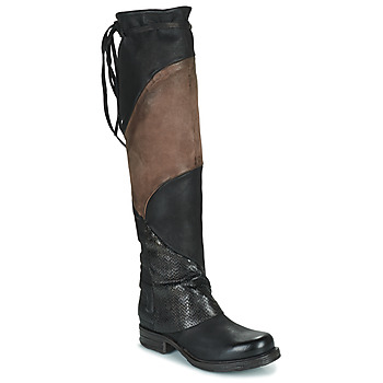 Shoes Women Thigh boots Airstep / A.S.98 SAINT EC PATCH Black