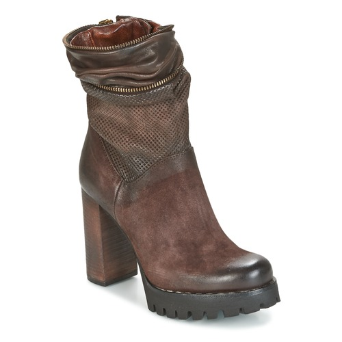 Shoes Women Ankle boots Airstep / A.S.98 BLOC ZIP Brown