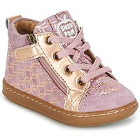 Shoes Girl Hi top trainers Shoo Pom BOUBA BI ZIP Pink / Coppery