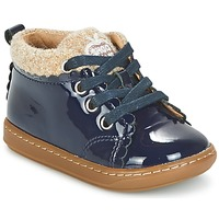Shoes Girl Mid boots Shoo Pom BOUBA WOOL MARINE / BEIGE