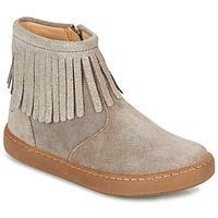 Shoes Girl Mid boots Shoo Pom PLAY FRINGE Taupe / Platinum