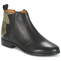 Shoes Girl Mid boots Adolie ODEON WILD Black / Platinum