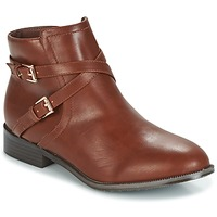 Shoes Women Mid boots Moony Mood GARCO Cognac