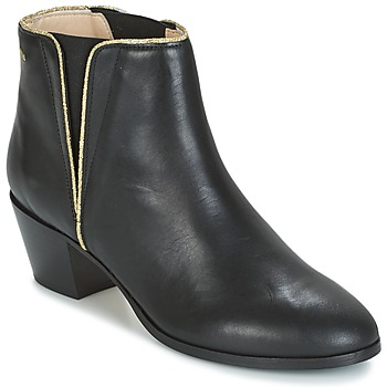 Shoes Women Ankle boots M. Moustache JEANNE.M Black / Gold