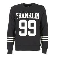 Clothing Men sweatpants Franklin & Marshall GECAR Black / White
