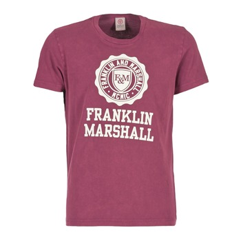 Clothing Men short-sleeved t-shirts Franklin & Marshall GRAVI Bordeaux