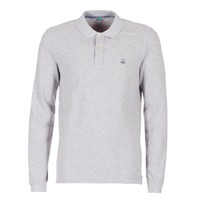 Clothing Men long-sleeved polo shirts Benetton MAGES Grey / Mottled