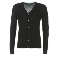 Clothing Men Jackets / Cardigans Benetton MELODY Black