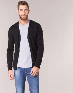 Clothing Men Jackets / Cardigans Benetton MELODY Black