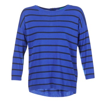 Clothing Women jumpers Benetton MIDIC Blue