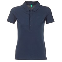 Clothing Women short-sleeved polo shirts Benetton MAJOU MARINE