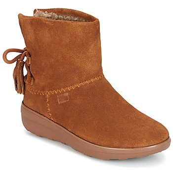 Shoes Women High boots FitFlop MUKLUK SHORTY II BOOTS  WITH TASSELS CHESTNUT