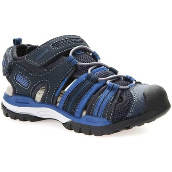 Shoes Children Sandals Geox J720RC 05014 Sandals Kid Blue Blue