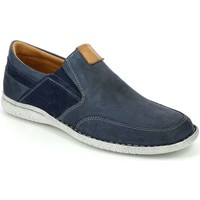 Shoes Men Loafers Grunland SC3377 Mocassins Man Blue Blue