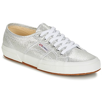 Shoes Women Low top trainers Superga 2750-LAMEW SILVER