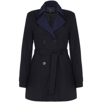 Clothing Women Trench coats Nam -Black Womens Shower Proof Trench Coat Black