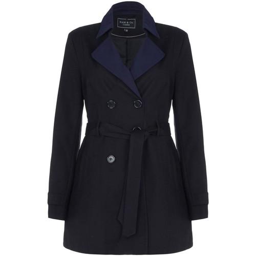 Clothing Women Trench coats Nam -Black Womens Shower Proof Trench Coat Black