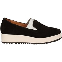 Shoes Women Loafers Carmens Padova A39079 Mocassins Women Black Black