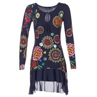 Clothing Women Short Dresses Desigual GRUFI Blue