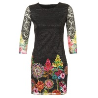 Clothing Women Short Dresses Desigual GRAFI Black