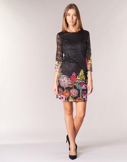 Clothing Women Short Dresses Desigual GRAFI Black