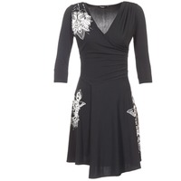 Clothing Women Short Dresses Desigual GRAFU Black