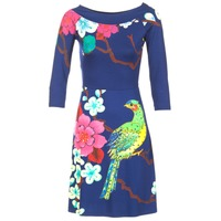 Clothing Women Short Dresses Desigual MARTA Blue