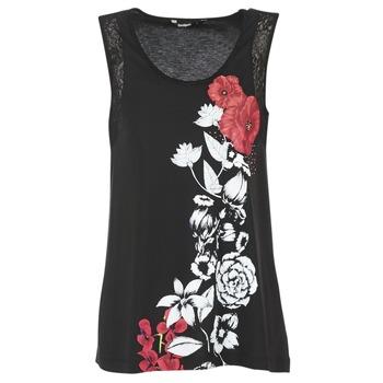 Clothing Women Tops / Sleeveless T-shirts Desigual MAGEIS Black