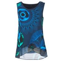 Clothing Women Tops / Sleeveless T-shirts Desigual TAMAC Blue