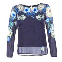 Clothing Women Tops / Blouses Desigual TAMA Blue