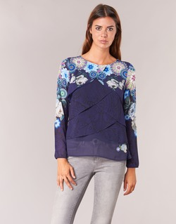 Clothing Women Tops / Blouses Desigual TAMA Blue
