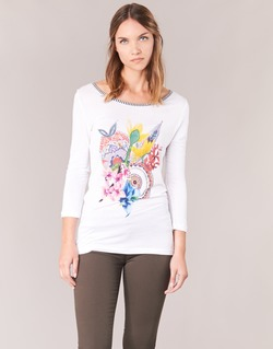 Clothing Women Long sleeved tee-shirts Desigual TERON White