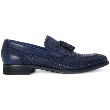 Shoes Men Loafers Kammi BRECOS OXFORD AZZURRO Blu marino